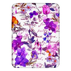Ultra Violet,shabby Chic,flowers,floral,vintage,typography,beautiful Feminine,girly,pink,purple Samsung Galaxy Tab 3 (10 1 ) P5200 Hardshell Case  by 8fugoso