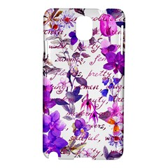 Ultra Violet,shabby Chic,flowers,floral,vintage,typography,beautiful Feminine,girly,pink,purple Samsung Galaxy Note 3 N9005 Hardshell Case by 8fugoso