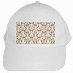 Gold,white,art Deco,vintage,shell Pattern,asian Pattern,elegant,chic,beautiful White Cap by 8fugoso