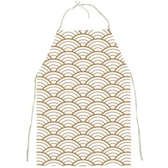 Gold,white,art Deco,vintage,shell Pattern,asian Pattern,elegant,chic,beautiful Full Print Aprons by 8fugoso