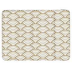 Gold,white,art Deco,vintage,shell Pattern,asian Pattern,elegant,chic,beautiful Samsung Galaxy Tab 7  P1000 Flip Case by 8fugoso