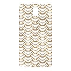 Gold,white,art Deco,vintage,shell Pattern,asian Pattern,elegant,chic,beautiful Samsung Galaxy Note 3 N9005 Hardshell Back Case by 8fugoso