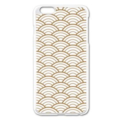 Gold,white,art Deco,vintage,shell Pattern,asian Pattern,elegant,chic,beautiful Apple Iphone 6 Plus/6s Plus Enamel White Case by 8fugoso