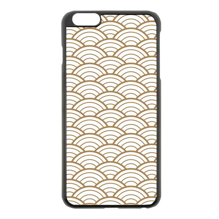 gold,white,art deco,vintage,shell pattern,asian pattern,elegant,chic,beautiful Apple iPhone 6 Plus/6S Plus Black Enamel Case
