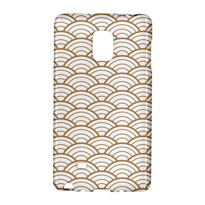 gold,white,art deco,vintage,shell pattern,asian pattern,elegant,chic,beautiful Galaxy Note Edge