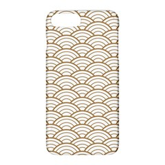 Gold,white,art Deco,vintage,shell Pattern,asian Pattern,elegant,chic,beautiful Apple Iphone 8 Plus Hardshell Case by 8fugoso