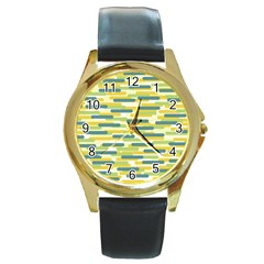 Fast Capsules 2 Round Gold Metal Watch by jumpercat