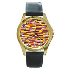 Fast Capsules 4 Round Gold Metal Watch by jumpercat
