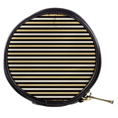 Black And Gold Stripes Mini Makeup Bags by jumpercat