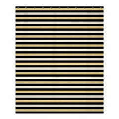 Black And Gold Stripes Shower Curtain 60  X 72  (medium)