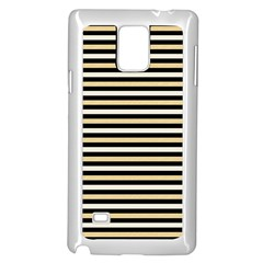 Black And Gold Stripes Samsung Galaxy Note 4 Case (white) by jumpercat