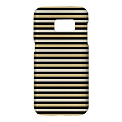 Black And Gold Stripes Samsung Galaxy S7 Hardshell Case  by jumpercat