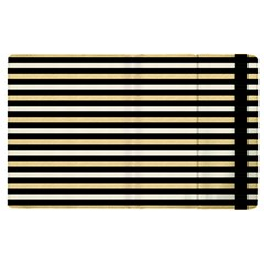 Black And Gold Stripes Apple Ipad Pro 9 7   Flip Case by jumpercat