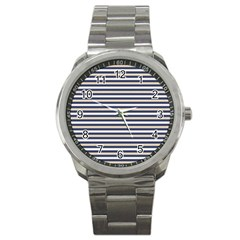 Royal Gold Classic Stripes Sport Metal Watch by jumpercat