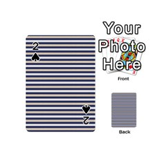 Royal Gold Classic Stripes Playing Cards 54 (mini)  by jumpercat