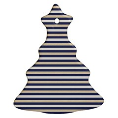 Royal Gold Classic Stripes Christmas Tree Ornament (two Sides) by jumpercat
