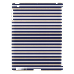 Royal Gold Classic Stripes Apple Ipad 3/4 Hardshell Case (compatible With Smart Cover) by jumpercat