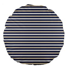 Royal Gold Classic Stripes Large 18  Premium Flano Round Cushions by jumpercat