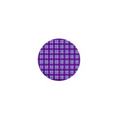 Purple Tartan 1  Mini Buttons by jumpercat