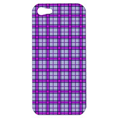 Purple Tartan Apple Iphone 5 Hardshell Case by jumpercat