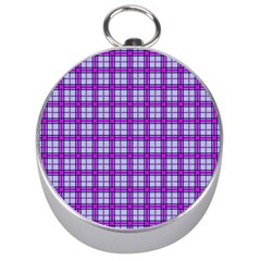 Purple Tartan Silver Compasses by jumpercat