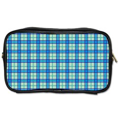 Sea Tartan Toiletries Bags 2 Side by jumpercat
