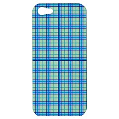 Sea Tartan Apple Iphone 5 Hardshell Case by jumpercat