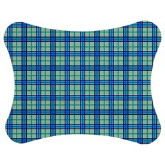 Sea Tartan Jigsaw Puzzle Photo Stand (bow) by jumpercat