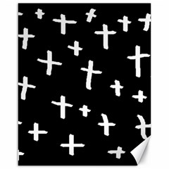 White Cross Canvas 16  X 20