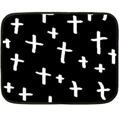 White Cross Fleece Blanket (mini)