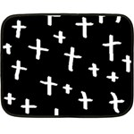 White Cross Fleece Blanket (Mini) 35 x27 Blanket