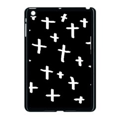 White Cross Apple Ipad Mini Case (black) by snowwhitegirl