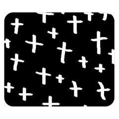 White Cross Double Sided Flano Blanket (small)  by snowwhitegirl