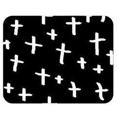White Cross Double Sided Flano Blanket (medium)  by snowwhitegirl
