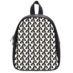 Angry Girl Pattern School Bag (small)