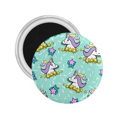 Magical Happy Unicorn And Stars 2 25  Magnets by allthingseveryday