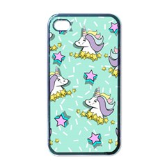 Magical Happy Unicorn And Stars Apple Iphone 4 Case (black) by allthingseveryday
