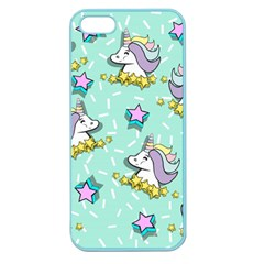 Magical Happy Unicorn And Stars Apple Seamless Iphone 5 Case (color)