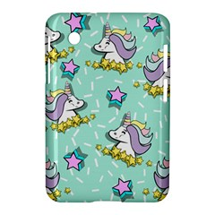 Magical Happy Unicorn And Stars Samsung Galaxy Tab 2 (7 ) P3100 Hardshell Case  by allthingseveryday