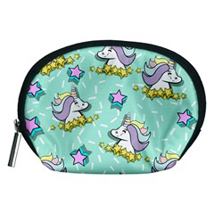 Magical Happy Unicorn And Stars Accessory Pouches (medium)  by allthingseveryday