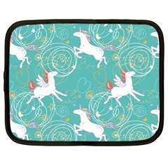 Magical Flying Unicorn Pattern Netbook Case (xl)  by allthingseveryday