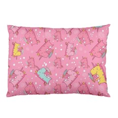 Unicorns Eating Ice Cream Pattern Pillow Case (two Sides) by allthingseveryday
