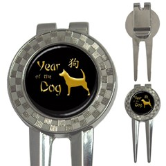 Year Of The Dog   Chinese New Year 3 In 1 Golf Divots by Valentinaart