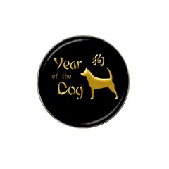 Year Of The Dog   Chinese New Year Hat Clip Ball Marker by Valentinaart
