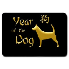 Year Of The Dog   Chinese New Year Large Doormat  by Valentinaart