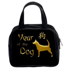 Year Of The Dog   Chinese New Year Classic Handbags (2 Sides) by Valentinaart