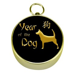 Year Of The Dog   Chinese New Year Gold Compasses by Valentinaart