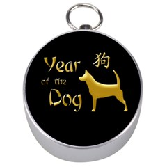 Year Of The Dog   Chinese New Year Silver Compasses by Valentinaart