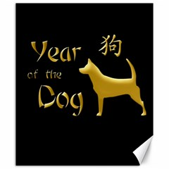 Year Of The Dog   Chinese New Year Canvas 20  X 24   by Valentinaart