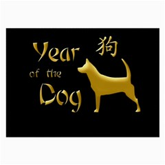 Year Of The Dog   Chinese New Year Large Glasses Cloth (2 Side) by Valentinaart